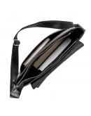 Фотография Сумка черная кожаная формата А4 на плечо SHVIGEL 11079