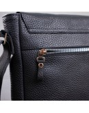 Фотография Черная сумка кожаная на плечо формата А4 SHVIGEL 11080