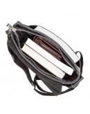 Фотография Кожаная квадратная черная сумка на плечо SHVIGEL 11081