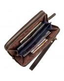 Фотография Кожаный коричневый винтажный клатч SHVIGEL 11083