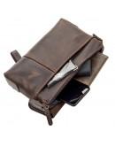 Фотография Коричневый кожаный винтажный мужской клатч SHVIGEL 11085