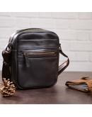 Фотография Коричневая небольшая мужская кожаная сумка - барсетка SHVIGEL 11089