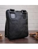 Фотография Мужская сумка кожная на плечо черная SHVIGEL 11090
