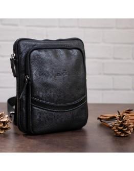 Мужская сумка кожная на плечо черная SHVIGEL 11090