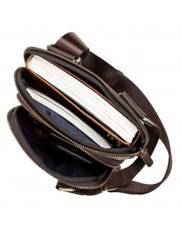 Коричневая винтажная мужская сумка SHVIGEL 11091