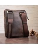 Фотография Коричневая винтажная мужская сумка SHVIGEL 11091