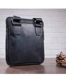 Фотография Черная сумка кожаная мужская на плечо SHVIGEL 11092