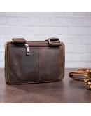 Фотография Коричневая мужская сумка на плечо SHVIGEL 11094
