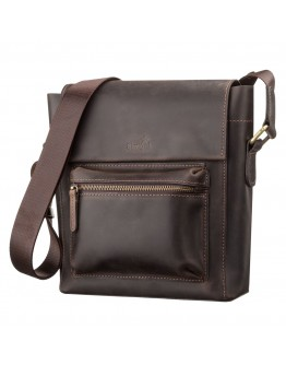 Коричневая сумка на плечо мужская вместительная SHVIGEL 11095