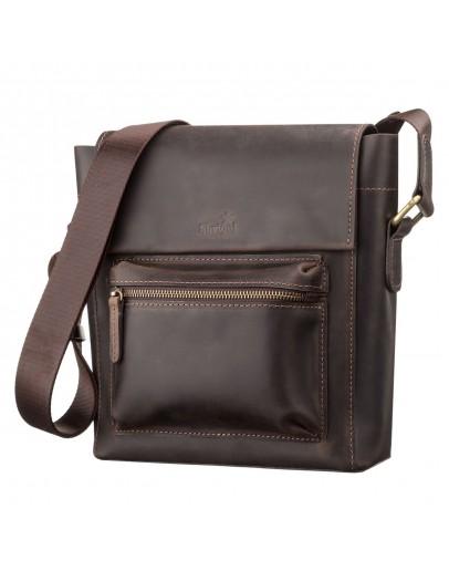 Фотография Коричневая сумка на плечо мужская вместительная SHVIGEL 11095