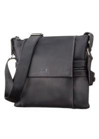 Мужская кожаная сумка черная SHVIGEL 11096