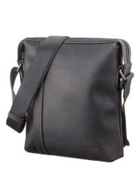 Кожаная мужская черная сумка через плечо SHVIGEL 11098