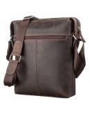 Фотография Коричневая мужская кожаная сумка на плечо SHVIGEL 11099