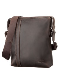 Коричневая мужская кожаная сумка на плечо SHVIGEL 11099