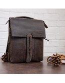 Фотография Коричневая винтажаная мужская деловая сумка SHVIGEL 11104