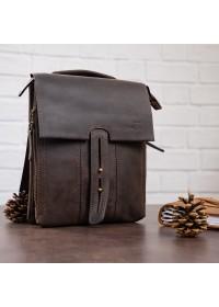 Коричневая винтажаная мужская деловая сумка SHVIGEL 11104