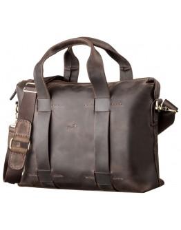 Кожаная винтажная мужская деловая сумка SHVIGEL 11105