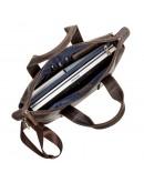 Фотография Кожаная винтажная мужская деловая сумка SHVIGEL 11105