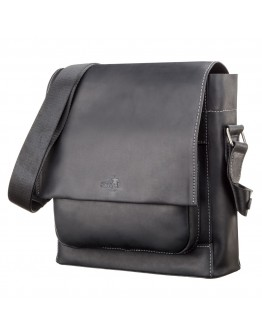 Черная мужская сумка большая на плечо SHVIGEL 11112