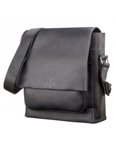 Фотография Черная мужская сумка большая на плечо SHVIGEL 11112