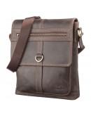 Фотография Большая сумка мужская кожаная на плечо SHVIGEL 11113