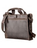 Фотография Мужская кожаная сумка для небольшого ноутбука SHVIGEL 11115