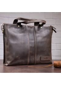 Мужская кожаная сумка для небольшого ноутбука SHVIGEL 11115