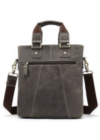 Мужская сумка серая кожаная Vintage 14818