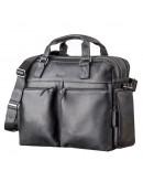 Фотография Мужская черная кожаная сумка вместительная SHVIGEL 11117