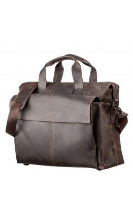 Большая мужская коричневая сумка SHVIGEL 11119