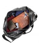 Фотография Дорожная кожаная черная мужская сумка SHVIGEL 11120