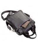 Фотография Черная кожаная мужская сумка деловая SHVIGEL 11121