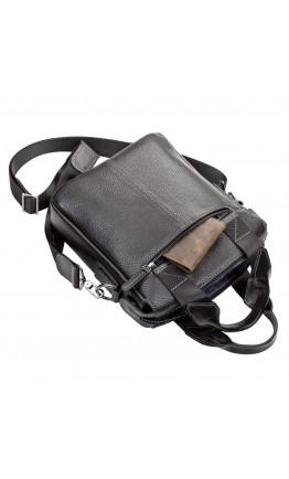 Черная кожаная мужская сумка деловая SHVIGEL 11121