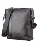 Фотография Черная мужская кожаная сумка на плечо SHVIGEL 11122