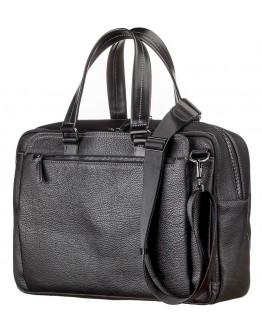 Мужская кожаная вместительная сумка для ноутбука и документов Shvigel 11123