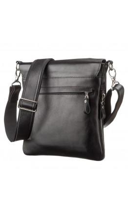 Черная мужская оригинальная сумка на плечо SHVIGEL 11124