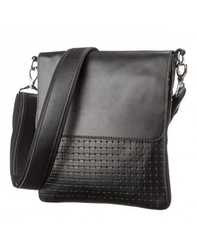 Фотография Черная мужская оригинальная сумка на плечо SHVIGEL 11124