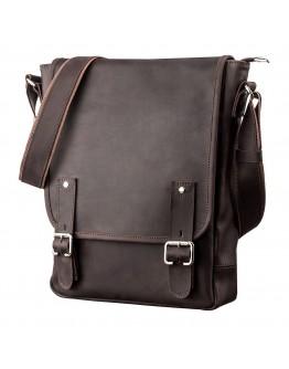Коричневая винтажная сумка формата A4 SHVIGEL 11129