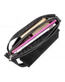 Фотография Черная сумка через плечо кожаная SHVIGEL 11131