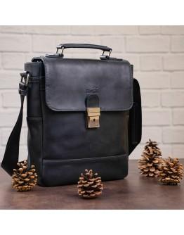 Кожаная мужская барсетка - сумка на плечо SHVIGEL 11137