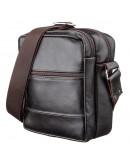 Фотография Коричневая кожаная небольшая сумка на плечо SHVIGEL 11142