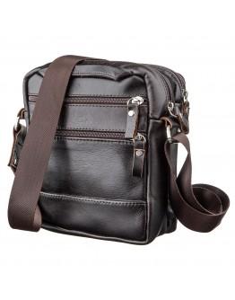 Коричневая кожаная небольшая сумка на плечо SHVIGEL 11142