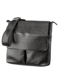 Черная мужская сумка кожаная SHVIGEL 11157