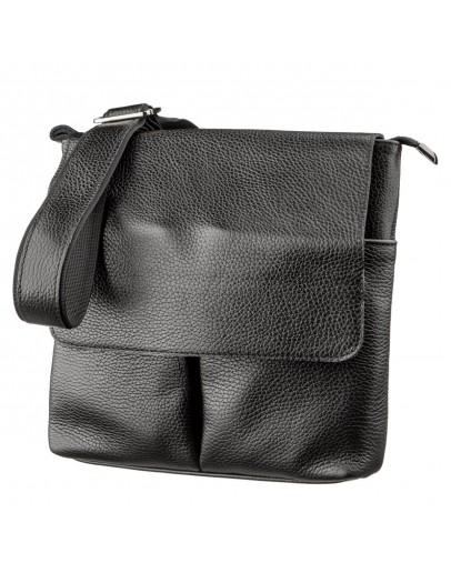 Фотография Черная мужская сумка кожаная SHVIGEL 11157