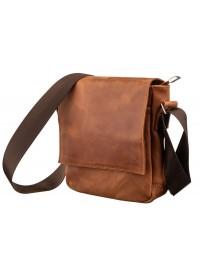 Мужская винтажная кожаная небольшая рыжая сумка SHVIGEL 11163