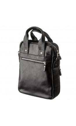 Мужская вертикальная сумка формата А4 из натуральной кожи SHVIGEL 11165