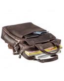 Фотография Коричневая вертикальная винтажная сумка формата А4 SHVIGEL 11166
