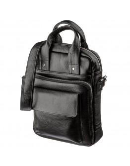 Мужская кожаная черная сумка формата А4 SHVIGEL 11167