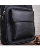 Фотография Винтажная черная кожана сумка формата А4 SHVIGEL 11169