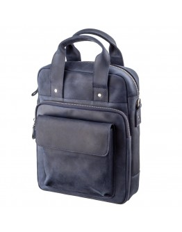 Мужская вертикальная синяя сумка формата А4 SHVIGEL 11170